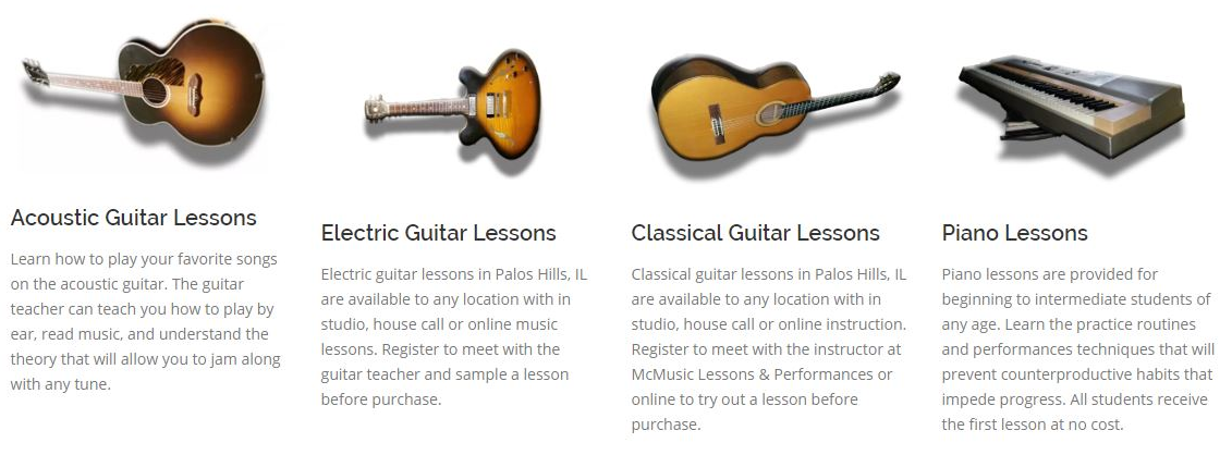 Guitar Lessons and Piano Lessons