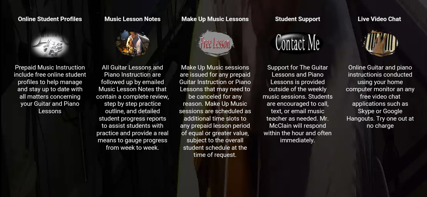Music lessons features