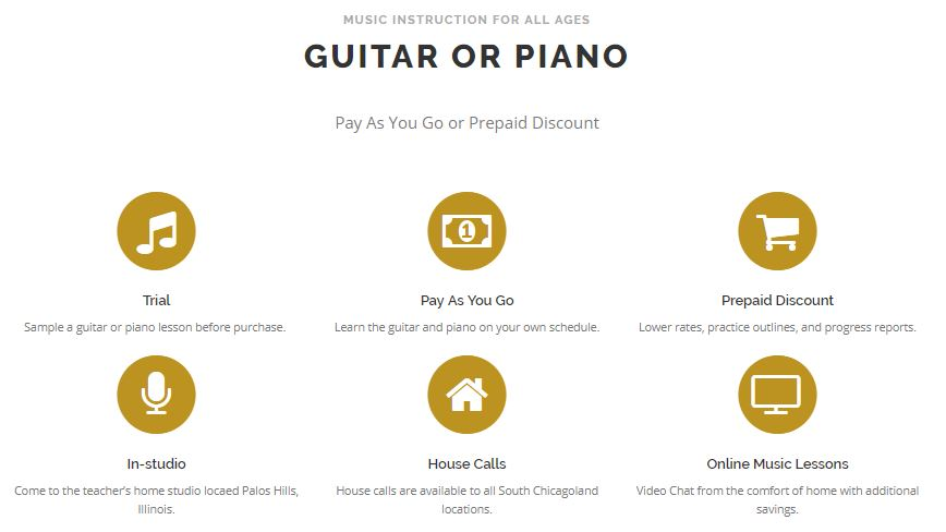 Music Lesson options and features
