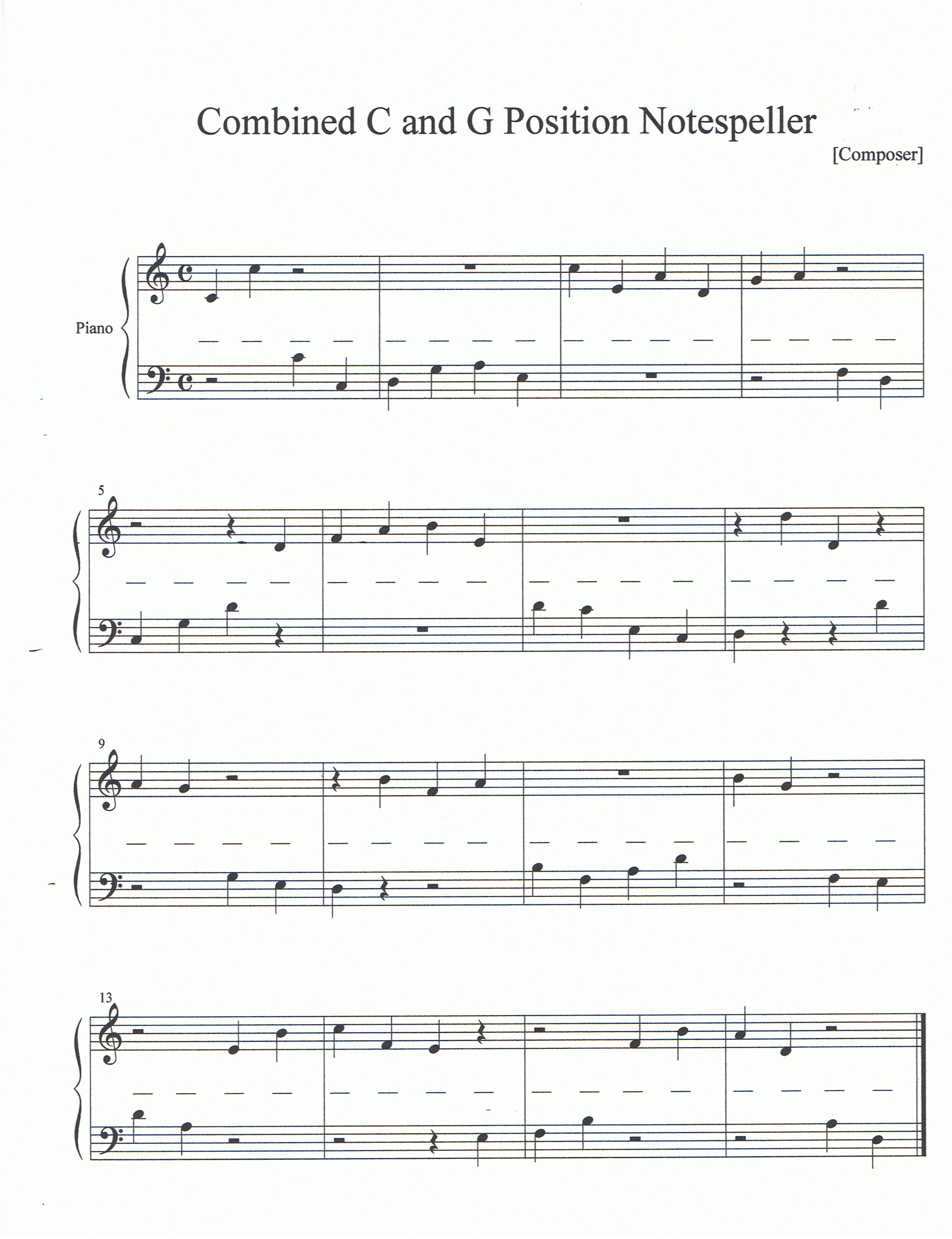 Noteworthy Music Studio - Worksheets and Flash Cards