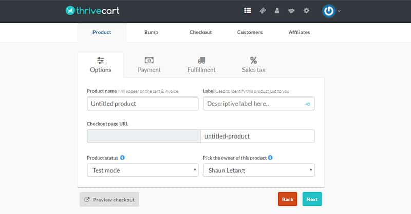 How to set up new products fast in Thrivecart
