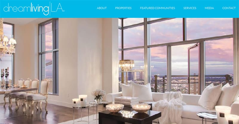 Finding other sites for real estate website inspiration