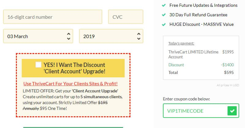 Thrivecart Pricing For The Lifetime Discount Deal