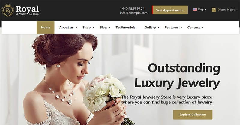 Add A Glamorous Jewelry Theme For Your Site