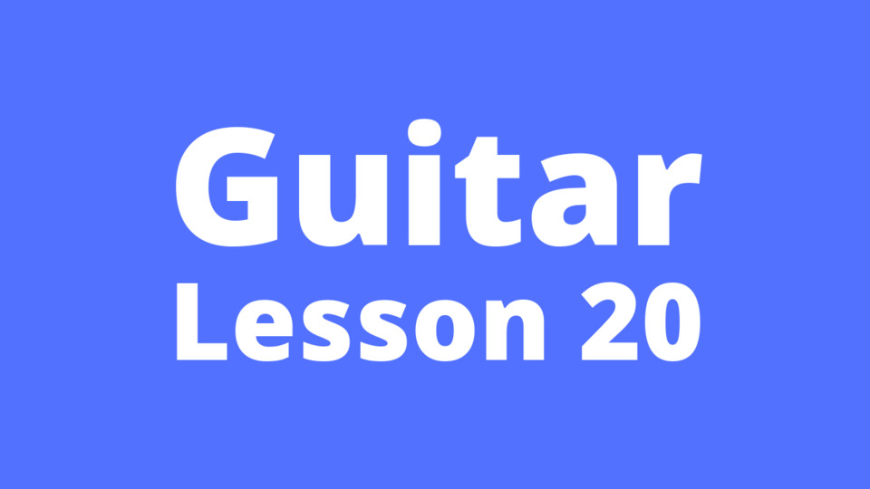 Guitar Lesson 20: Waltz beat strumming