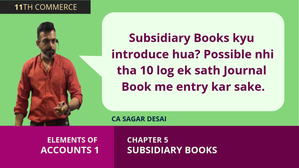 Chapter 5: Subsidiary Books