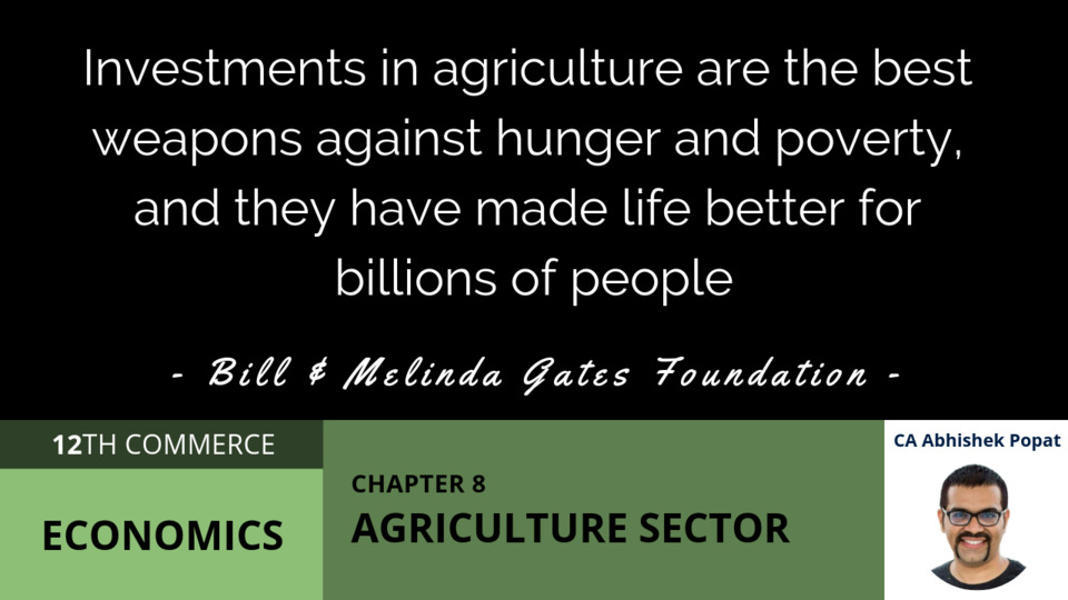 Chapter 8: Agriculture Sector