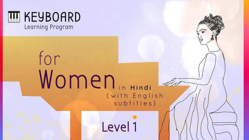 Keyboard Learning Program for Women (Level 1)