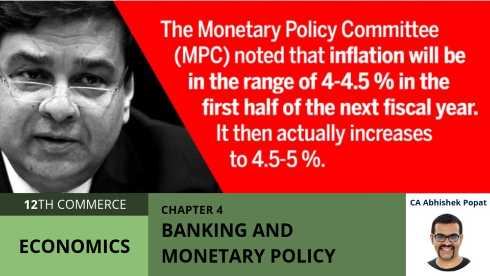 Chapter 4: Banking and Monetary Policy