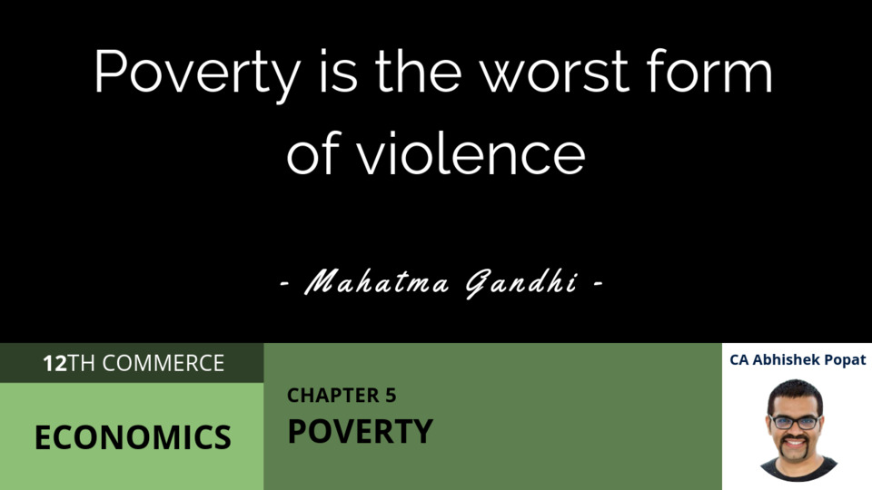 Chapter 5: Poverty