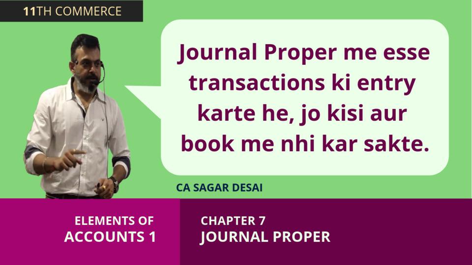 Chapter 7: Journal Proper