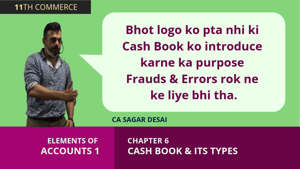 Chapter 6: Cash Book