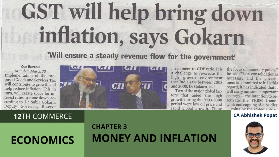 Chapter 3: Money and Inflation
