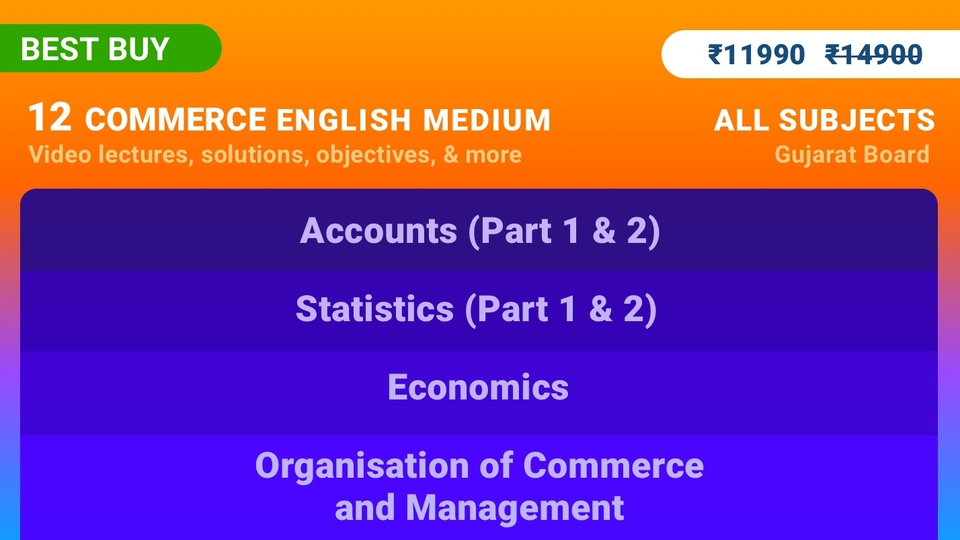 12th Commerce (Full - Accounts, Stats, Economics, OCM)