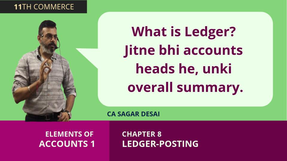 Chapter 8: Ledger Posting