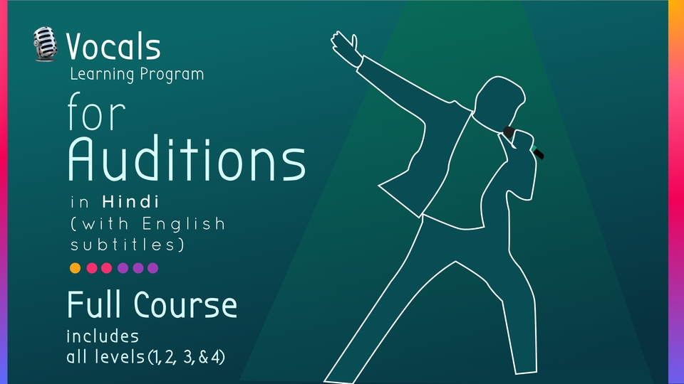 Vocal Learning Program for Auditions & Competitions