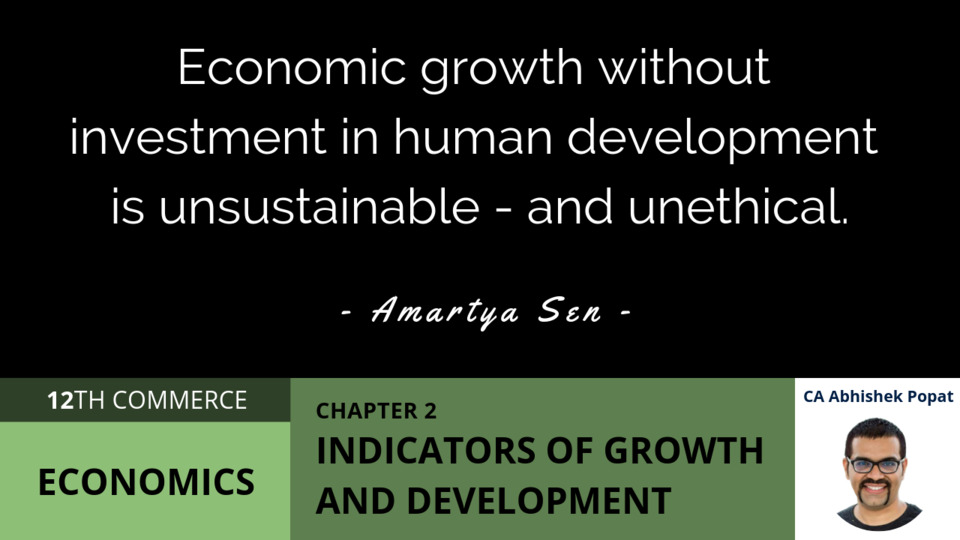 Chapter 2: Indicators of Growth and Development