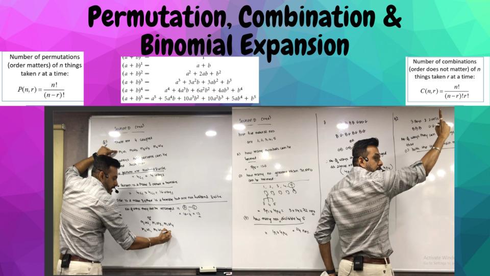 Ch 6 Permutation, Combination & Binomial Expansion
