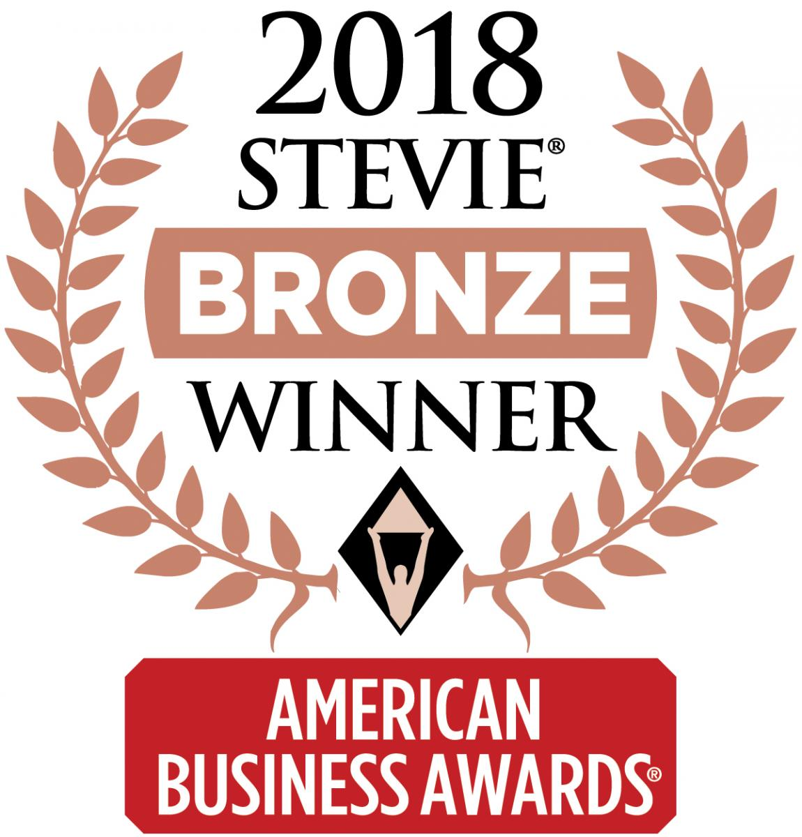 2018 Bronze Stevie Award