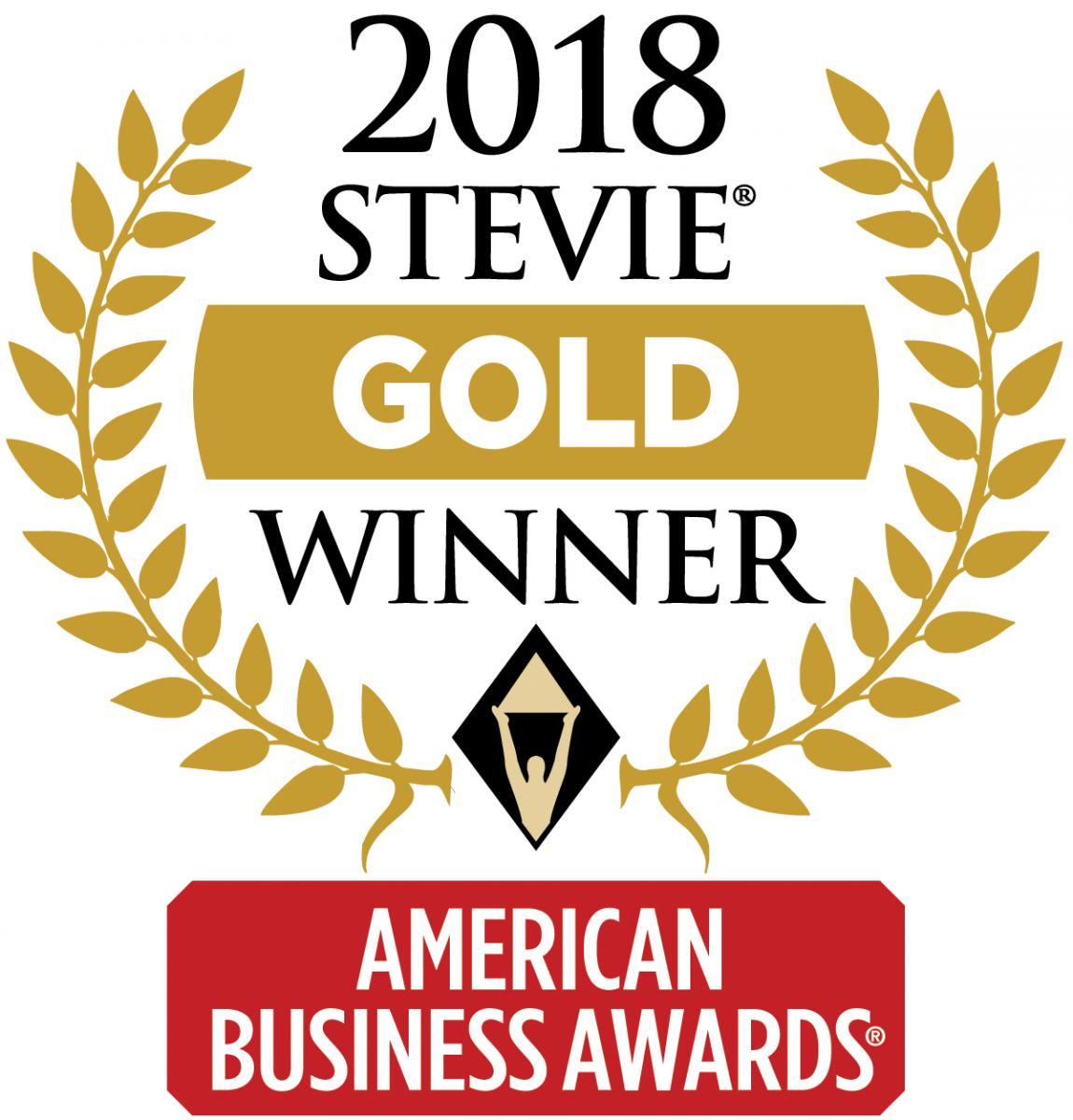 2018 Gold Stevie Award
