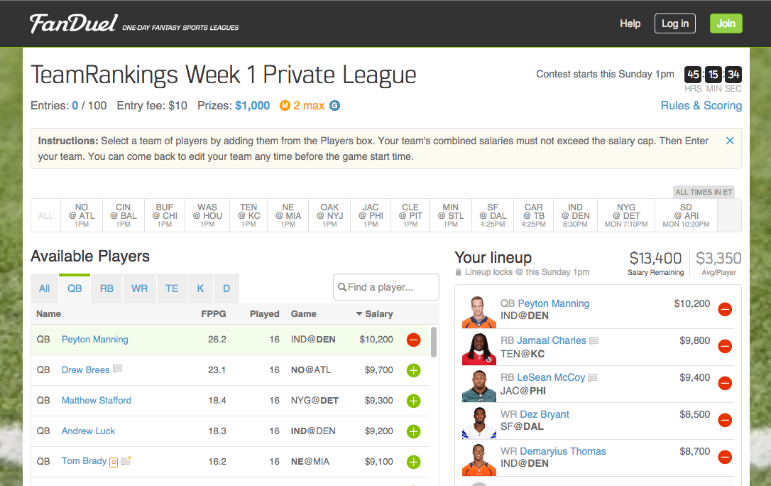 how to win at fanduel football