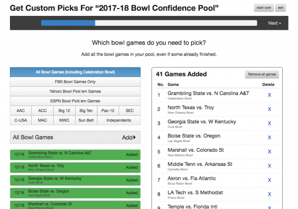 How To Win A College Bowl Pick'em Pool