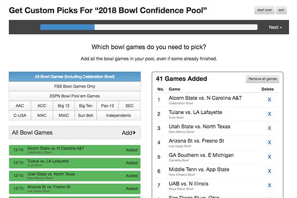 College Bowl Picks Screenshot