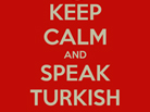 Please Speak Turkish