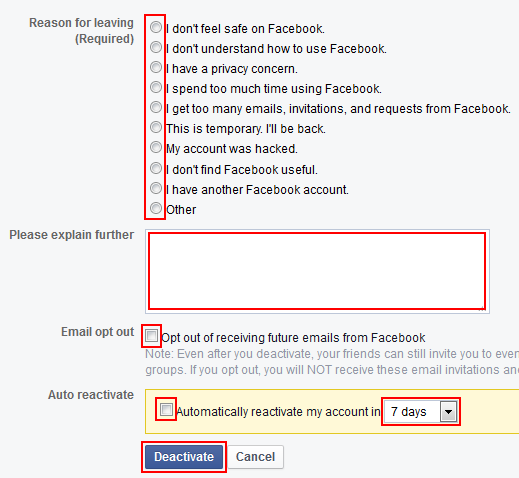 facebook opt out instructions