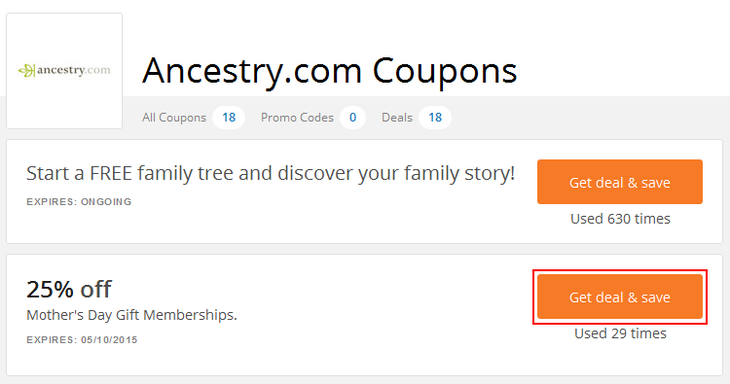Ancestry.com coupon codes