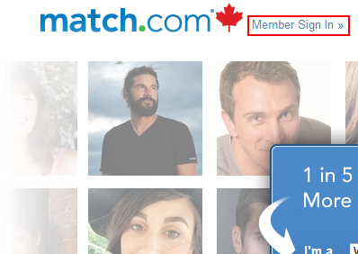 Match.com sign in button