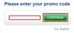 Enter promo code