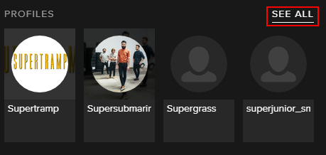 how to find users spotify