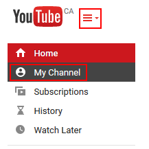 How to delete a youtube video free youtube tutorials click my channel in the left hand menu click the icon beside the youtube logo if you cant see this menu ccuart Images