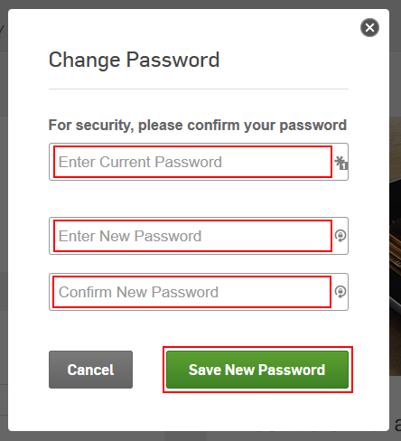 Hulu change password form