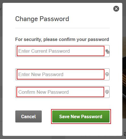 Hulu change password form