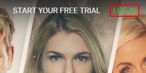 Hulu log in button