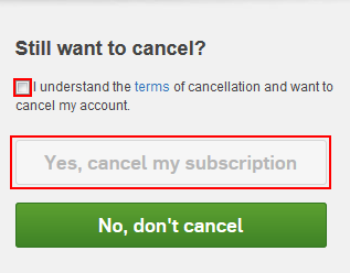 Hulu cancel subscription confirmation form