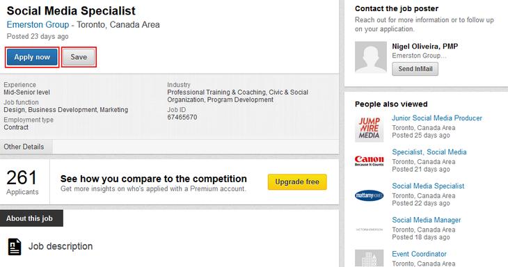 Applying for a LinkedIn job