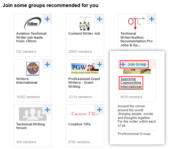 Finding LinkedIn groups to join