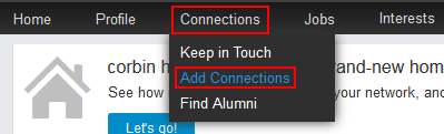 Add LinkedIn connections button