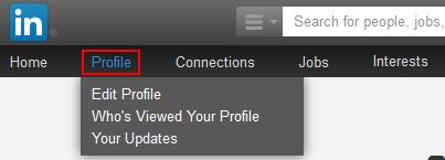 LinkedIn profile button