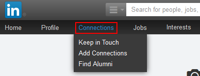 LinkedIn connections button