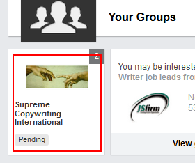 Go to LinkedIn group page
