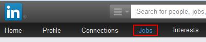 LinkedIn jobs button