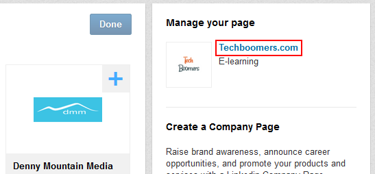 Manage LinkedIn company page