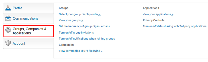 Change LinkedIn group settings