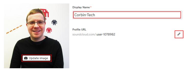 Edit your SoundCloud profile general appearance
