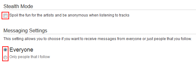 Controlling your privacy on SoundCloud