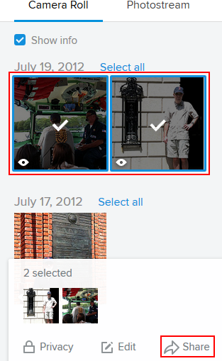 Select and share your Flickr photos